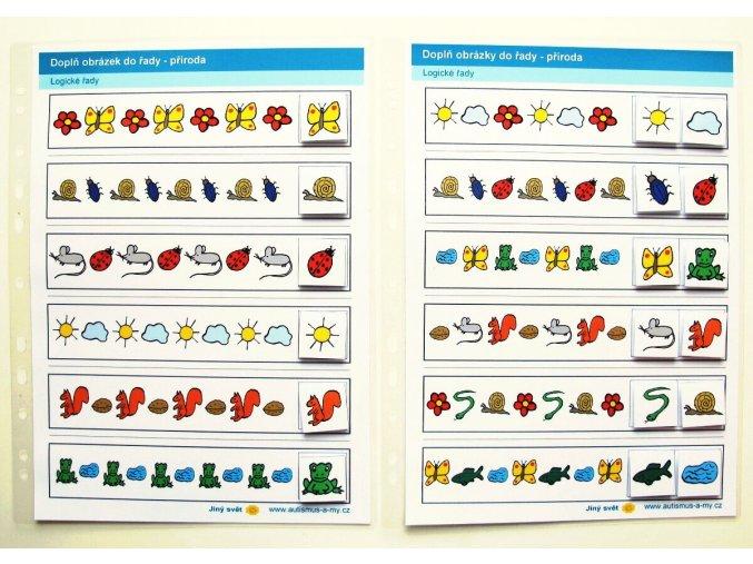 Jiný svět Logické řady - příroda. 2 Strukturované listy do desek